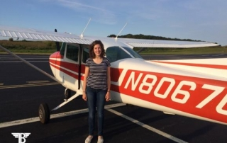 Gretchen Thennes flew her first solo flight on 9/12/2017