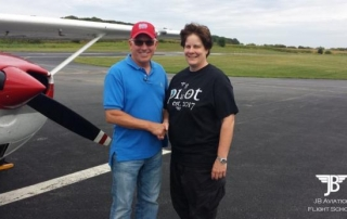 Lesley Vanderkarr earned her Private Pilot Certificate on 9/17/2017