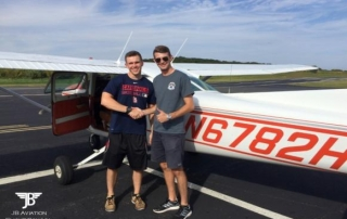 Ryan Wiegel flew his first solo flight on 9/21/2017