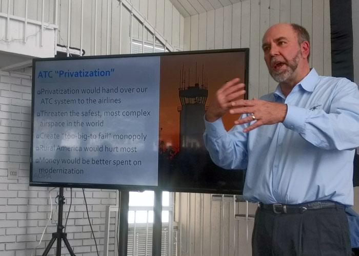 Privatization Andy Miller aopa general aviation update