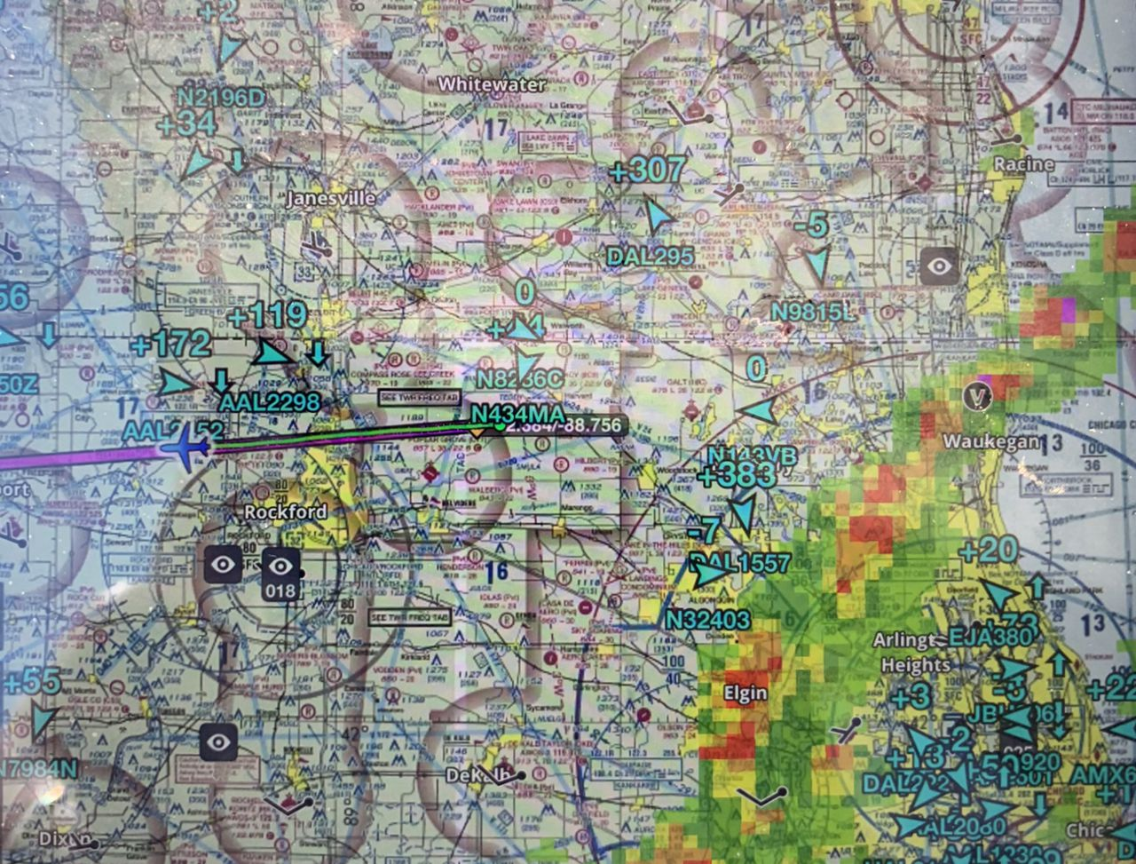 Foreflight Showing Front Over Ord recreational aerobatics