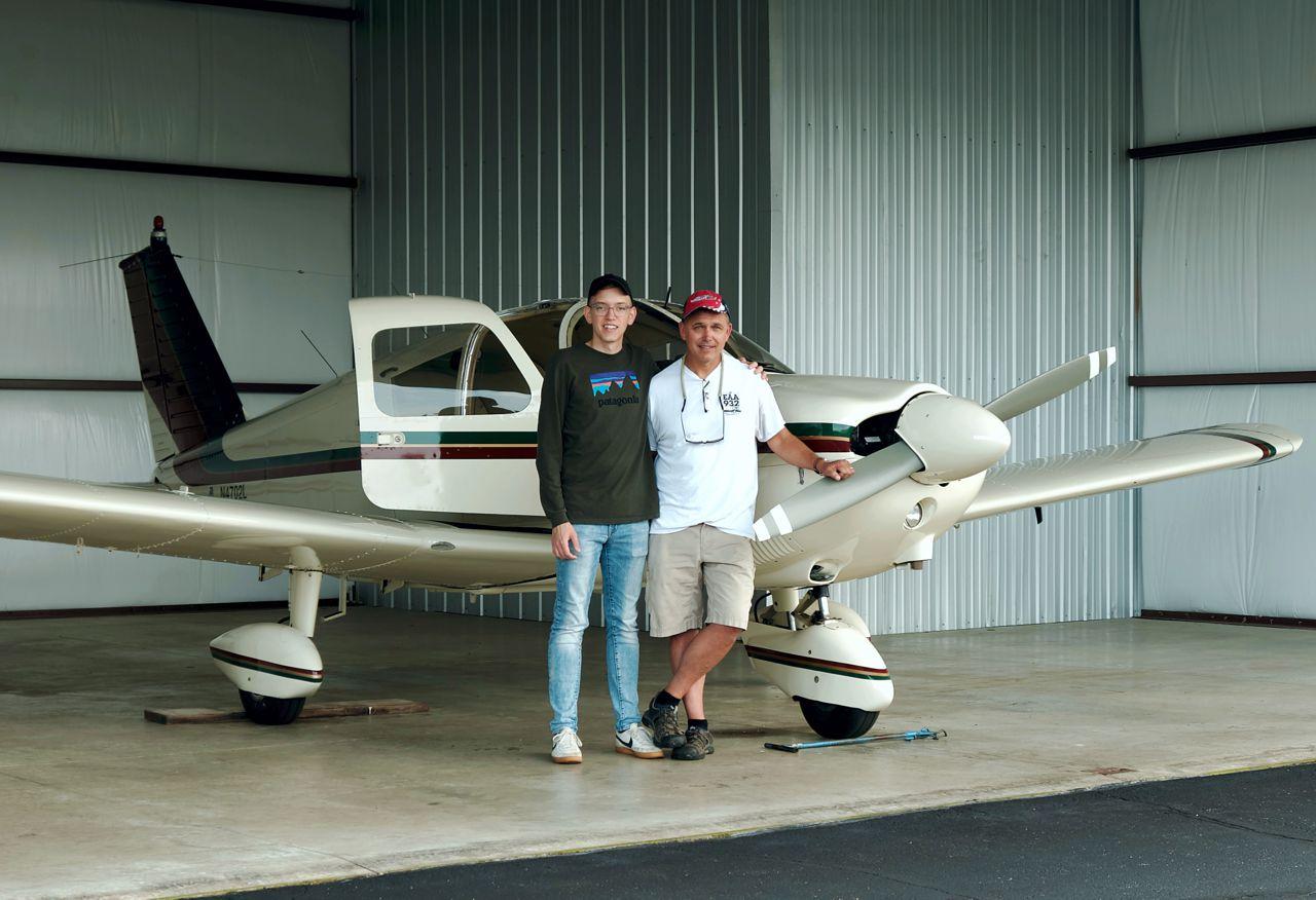 Jt And Arnie In Galt Hangar W Lucy recreational aerobatics